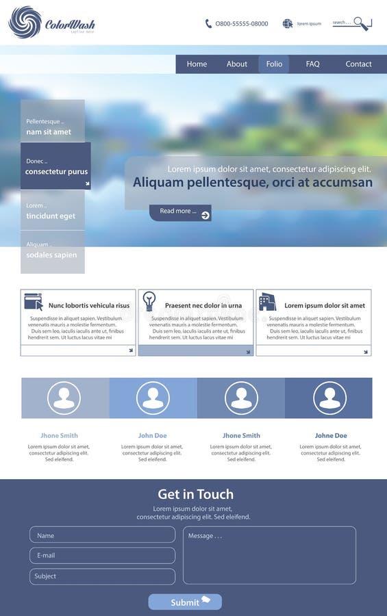 Het malplaatje van de website