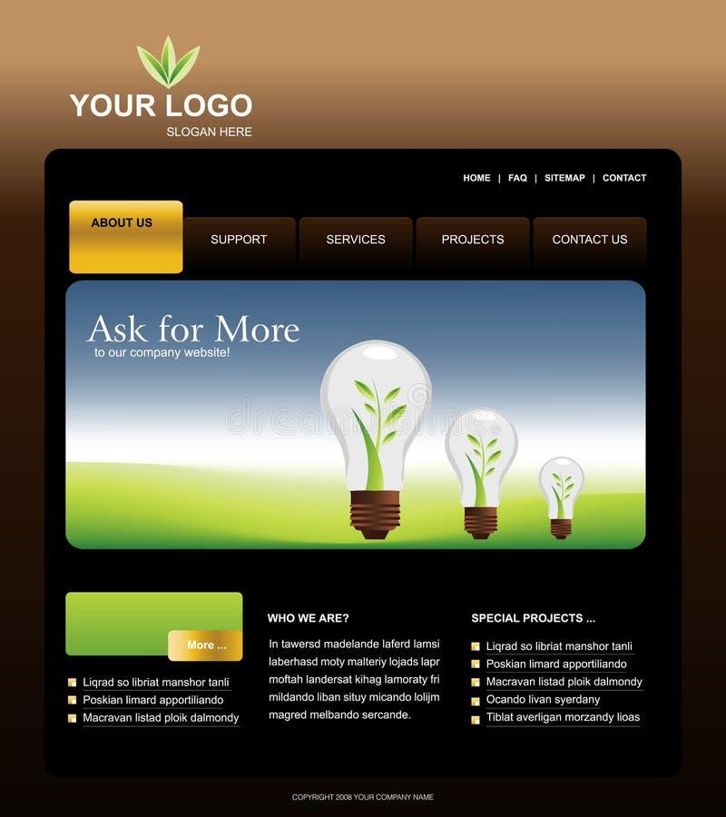 Het Malplaatje van de website royalty-vrije illustratie