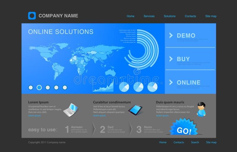 Het malplaatje van de website: Infographics stock illustratie