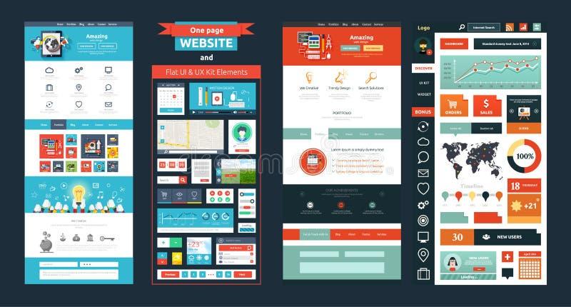 Het malplaatje van de websitepagina Het Ontwerp van het Web vector illustratie