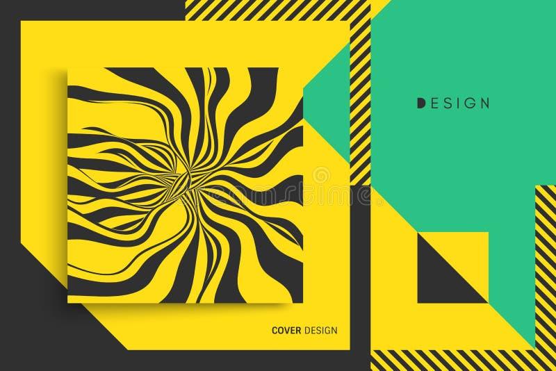 Het malplaatje van het dekkingsontwerp Vector illustratie Het patroon kan als malplaatje voor brochure, jaarverslag, tijdschrift, stock illustratie