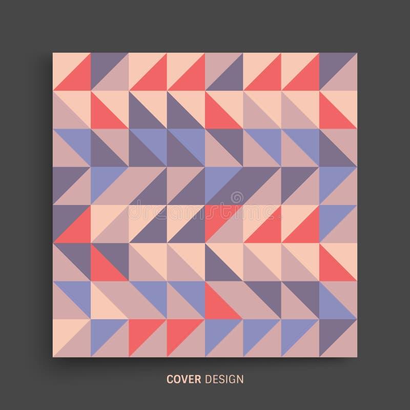 Het malplaatje van het dekkingsontwerp voor reclame Abstract kleurrijk geometrisch ontwerp Het patroon kan als malplaatje voor br vector illustratie