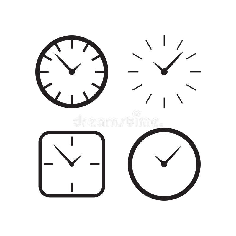 Het malplaatje van het het embleemontwerp van de muurklok vector illustratie