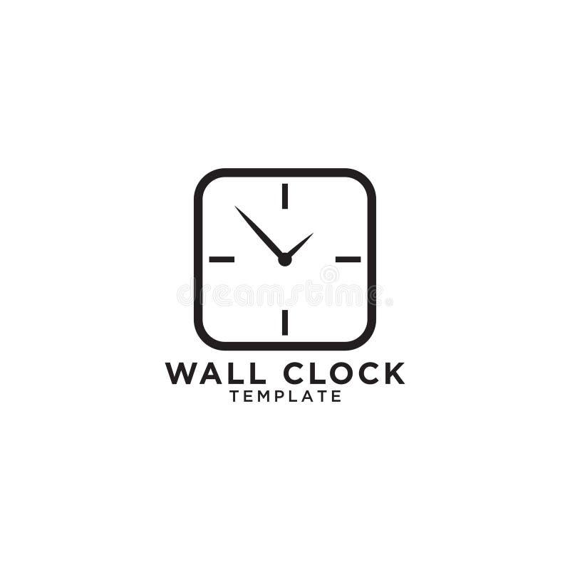 Het malplaatje van het het embleemontwerp van de muurklok stock illustratie