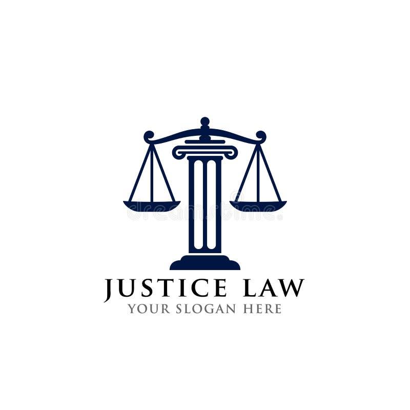 Het malplaatje van het het embleemontwerp van de rechtvaardigheidswet het vectorontwerp van het procureursembleem schalen en pijl vector illustratie