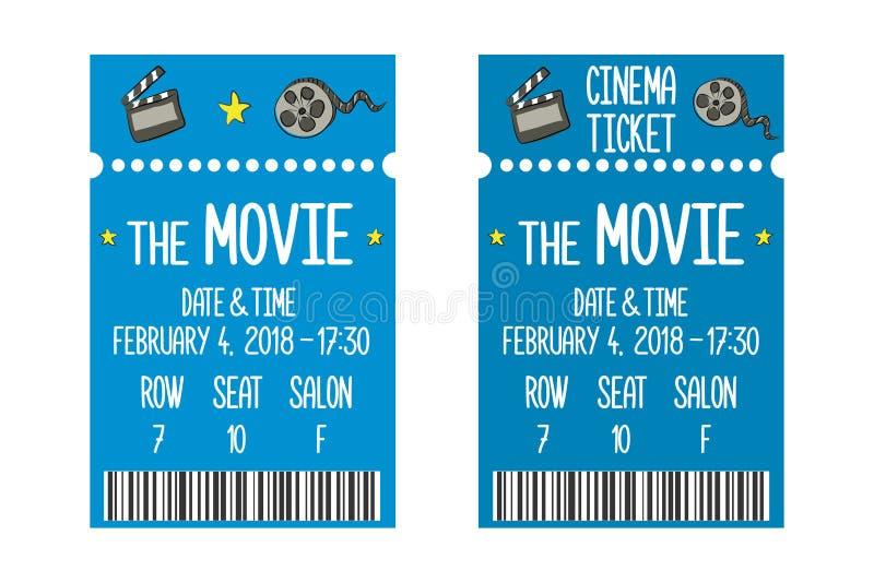 Het malplaatje van het filmkaartje royalty-vrije illustratie