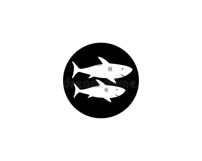 Het malplaatje van het haaiembleem royalty-vrije illustratie