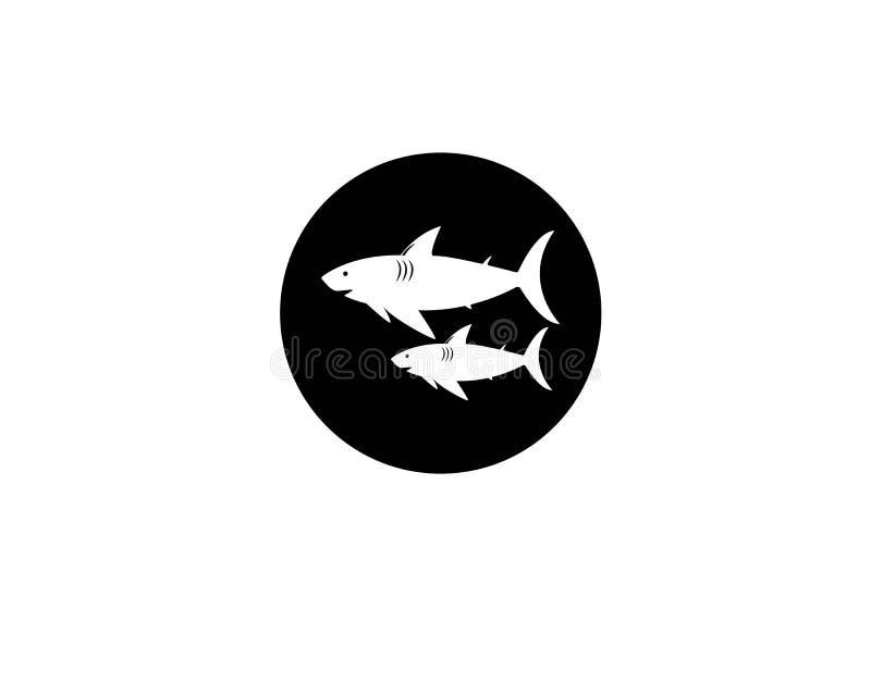 Het malplaatje van het haaiembleem stock illustratie