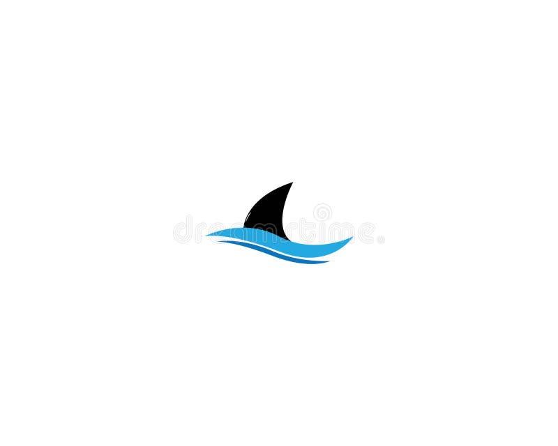 Het malplaatje van het haaiembleem vector illustratie