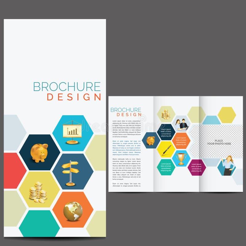 Het Malplaatje van het brochureontwerp royalty-vrije illustratie