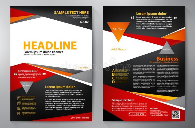 Het malplaatje van het brochureontwerp a4 vector illustratie