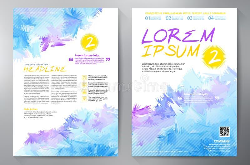 Het malplaatje van het brochureontwerp a4 stock illustratie