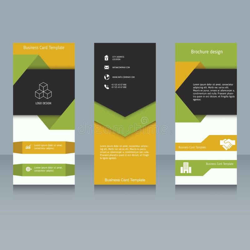 Het Malplaatje van het brochureontwerp vector illustratie