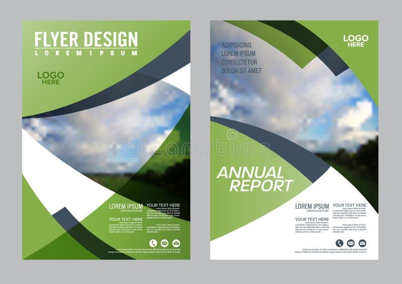Het malplaatje van het de Lay-outontwerp van de groenbrochure vector illustratie