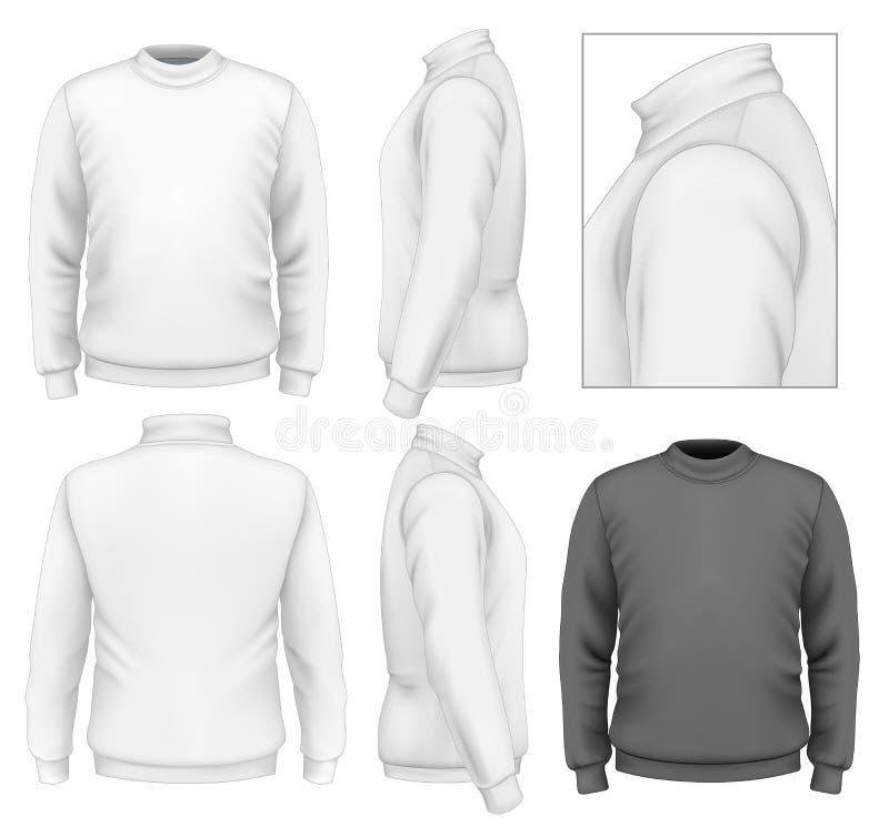 Het malplaatje van het de sweaterontwerp van mensen stock illustratie