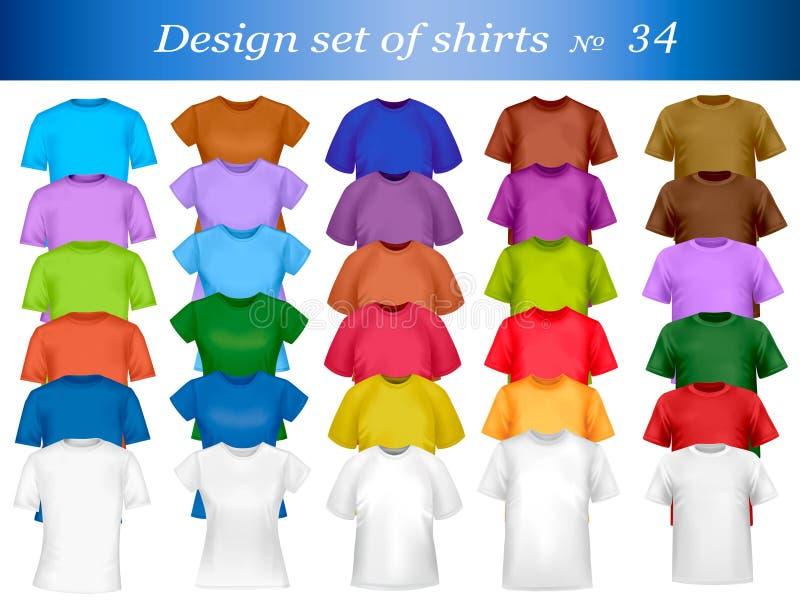 Het malplaatje van het de t-shirtontwerp van de kleur. royalty-vrije illustratie