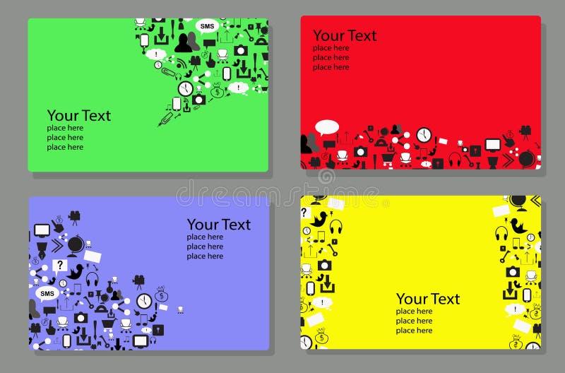 Het malplaatje van het dekkingsontwerp met sociale netwerkpictogrammen vector illustratie