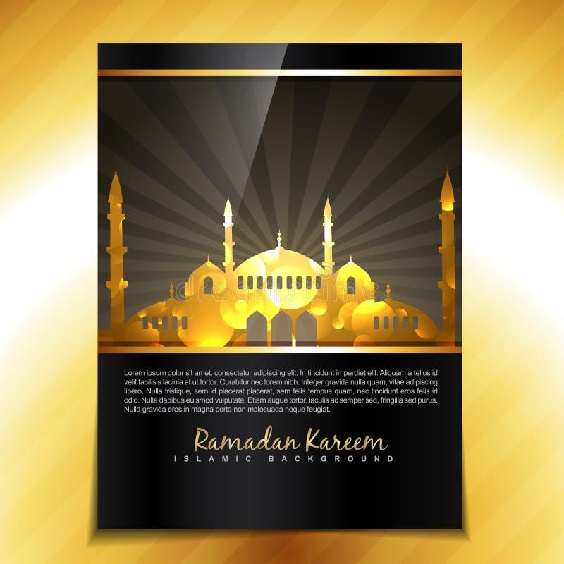 Het malplaatje van het Eidfestival royalty-vrije illustratie