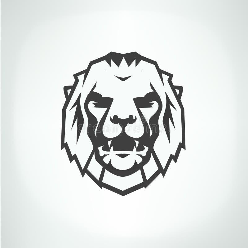 Het malplaatje van het het embleemembleem van het leeuwgezicht vector illustratie