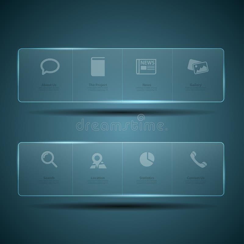 Het malplaatje van het het ontwerpMenu van het Web stock illustratie