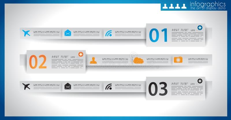 Het malplaatje van het Infographicontwerp met document markeringen. royalty-vrije illustratie
