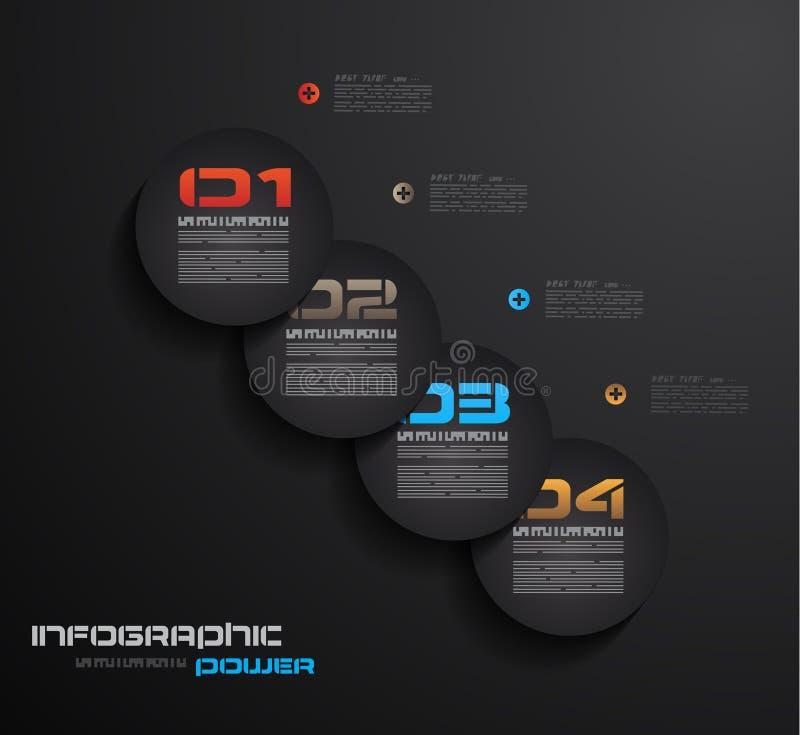 Het malplaatje van het Infographicontwerp met document markeringen. Idee om informatie, ranki te tonen vector illustratie