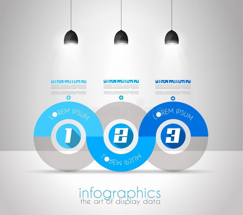 Het Malplaatje van het Infographicontwerp met moderne vlakke stijl royalty-vrije illustratie