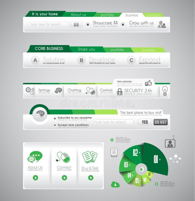 Het malplaatje van het Infographicontwerp met ontwerpelementen stock illustratie
