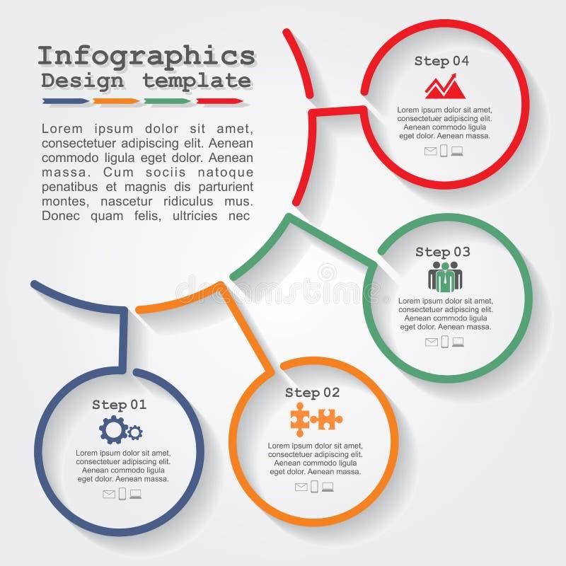 Het malplaatje van het Infographicrapport met lijnen en pictogrammen vector illustratie
