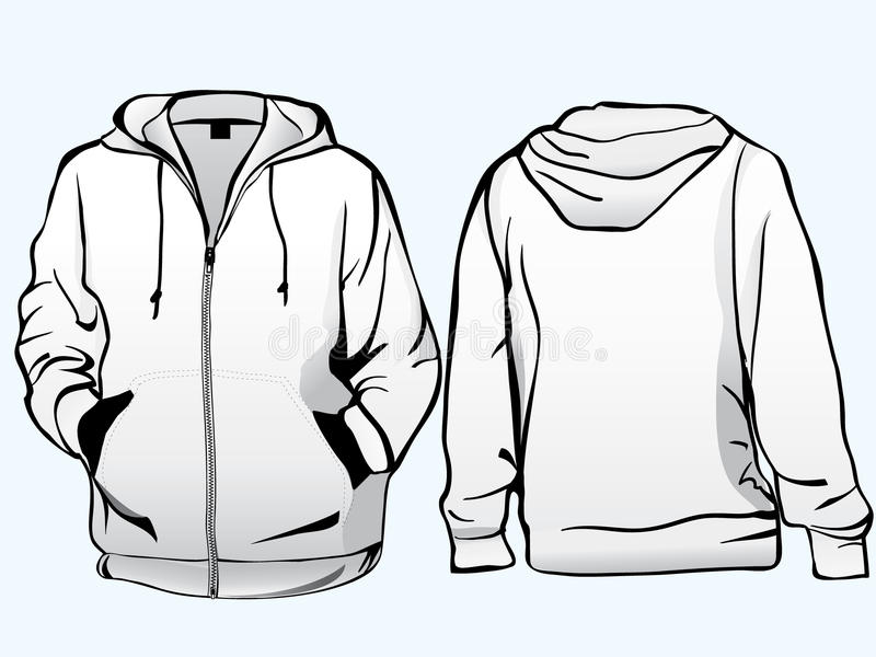 Het malplaatje van het jasje of van het sweatshirt stock illustratie