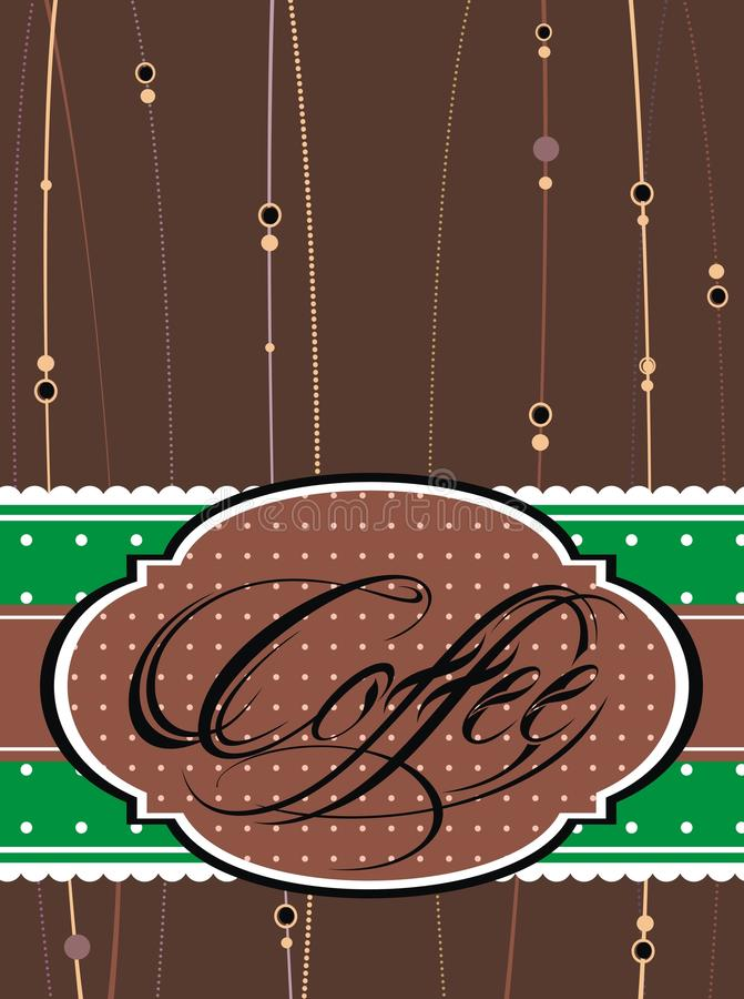 Het malplaatje van het koffieontwerp royalty-vrije illustratie