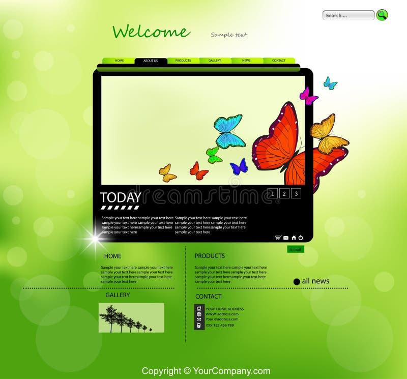 Het Malplaatje van het Ontwerp van de Aard van de website vector illustratie