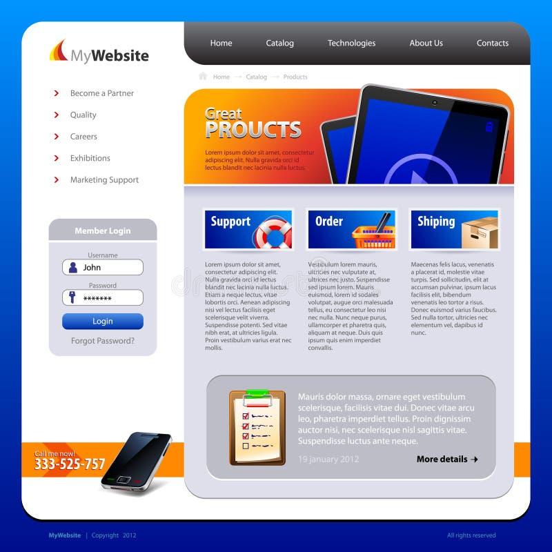 Het Malplaatje van het Ontwerp van de website royalty-vrije illustratie