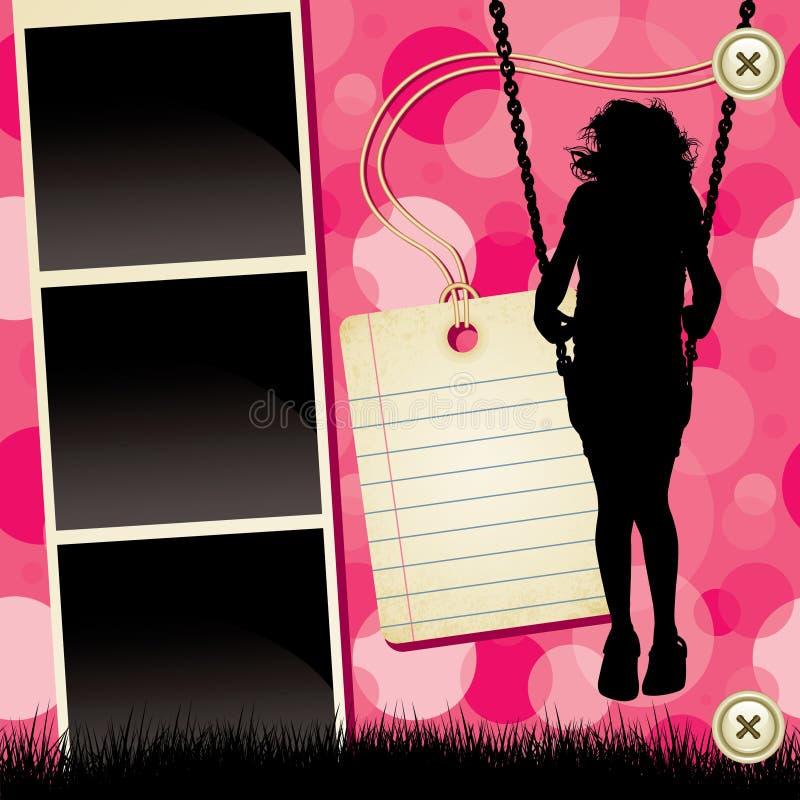Het Malplaatje van het plakboek stock illustratie