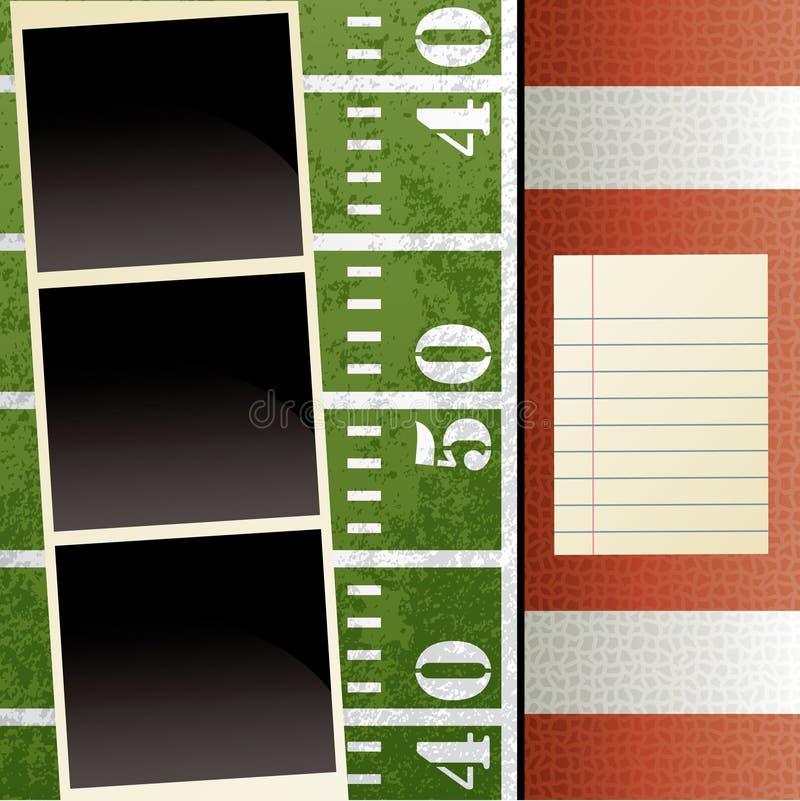 Het Malplaatje van het Plakboek van de voetbal vector illustratie