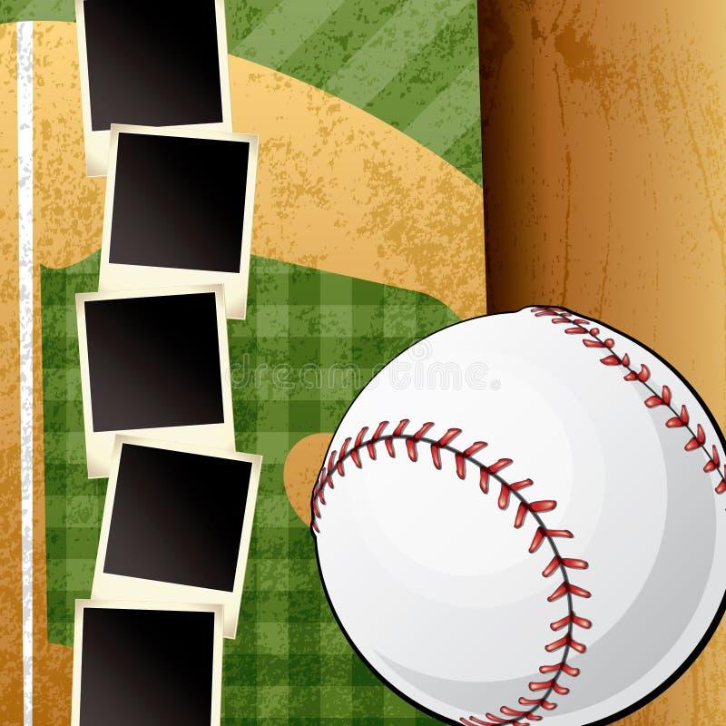 Het Malplaatje van het Plakboek van het honkbal royalty-vrije illustratie