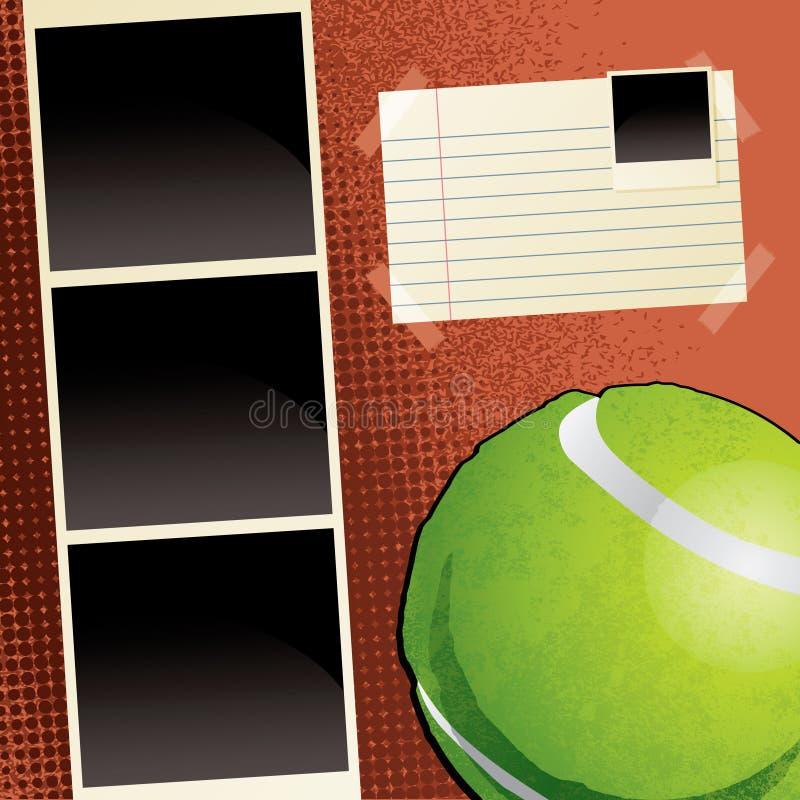 Het Malplaatje van het Plakboek van het tennis vector illustratie
