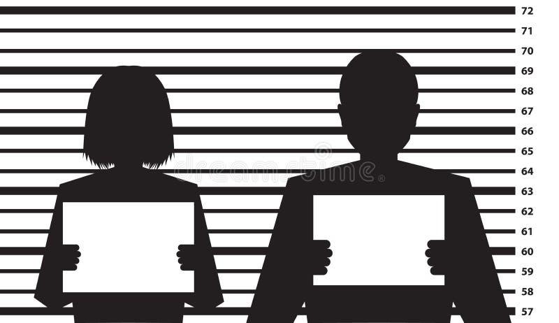 Het malplaatje van het politie strafregister royalty-vrije illustratie