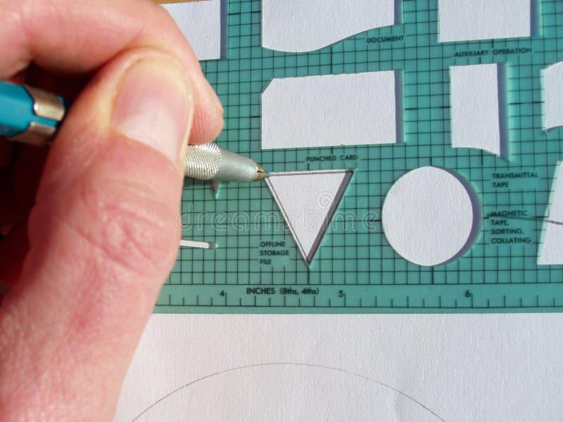Het Malplaatje Van Het Stroomschema Stock Afbeeldingen