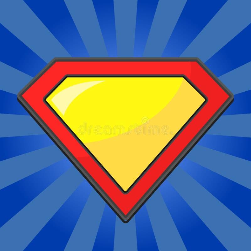 Het malplaatje van het Superheroembleem stock illustratie
