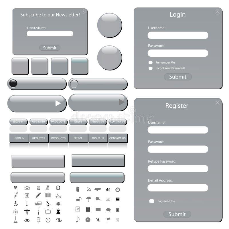 Het Malplaatje van het Web vector illustratie
