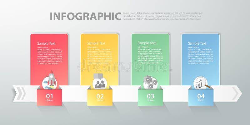 Het Malplaatje van Infographic kan voor werkschema, lay-out, diagram worden gebruikt stock illustratie