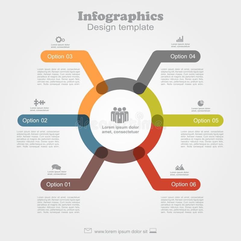 Het Malplaatje van Infographic kan voor werkschemalay-out, diagram, bedrijfsstapopties, banner, Webontwerp worden gebruikt stock illustratie