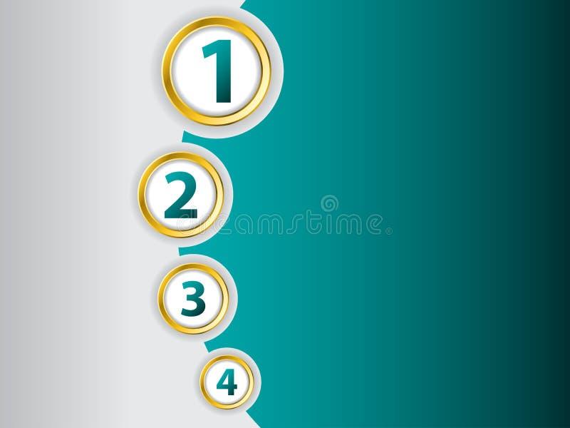 Het malplaatje van Infographic stock illustratie