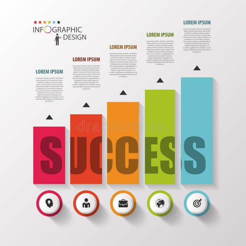 Het Malplaatje van Infographic Moderne ontwerpgrafiek met kolommen Vector royalty-vrije illustratie