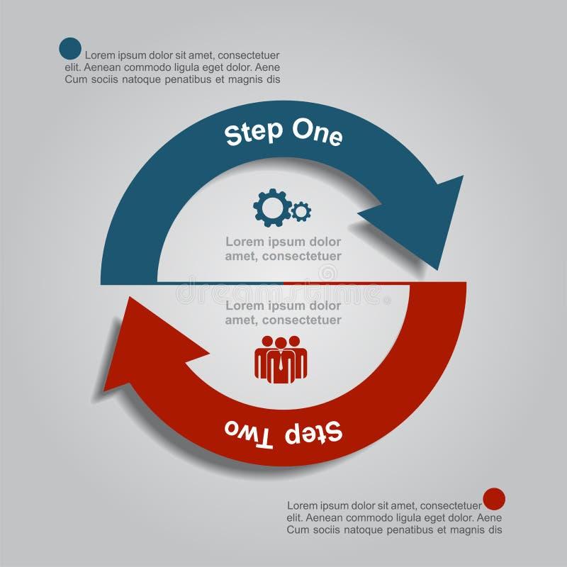 Het Malplaatje van Infographic Vector illustratie Gebruikt voor werkschemalay-out, diagram, bedrijfsstapopties, banner, Webontwer royalty-vrije illustratie