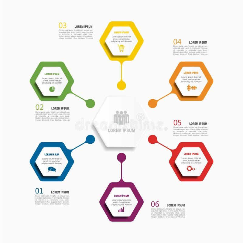Het Malplaatje van Infographic Vector illustratie Gebruikt voor werkschemalay-out, diagram, bedrijfsstapopties, banner, Webontwer vector illustratie