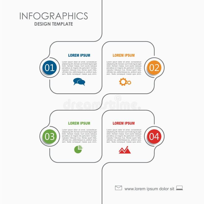 Het Malplaatje van Infographic Vector illustratie Kan voor werkschemalay-out, diagram, bedrijfsstapopties, banner worden gebruikt vector illustratie