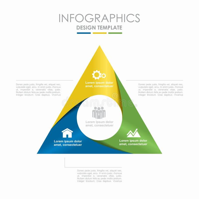 Het Malplaatje van Infographic Vector illustratie Kan voor werkschemalay-out, diagram, bedrijfsstapopties, banner worden gebruikt stock illustratie