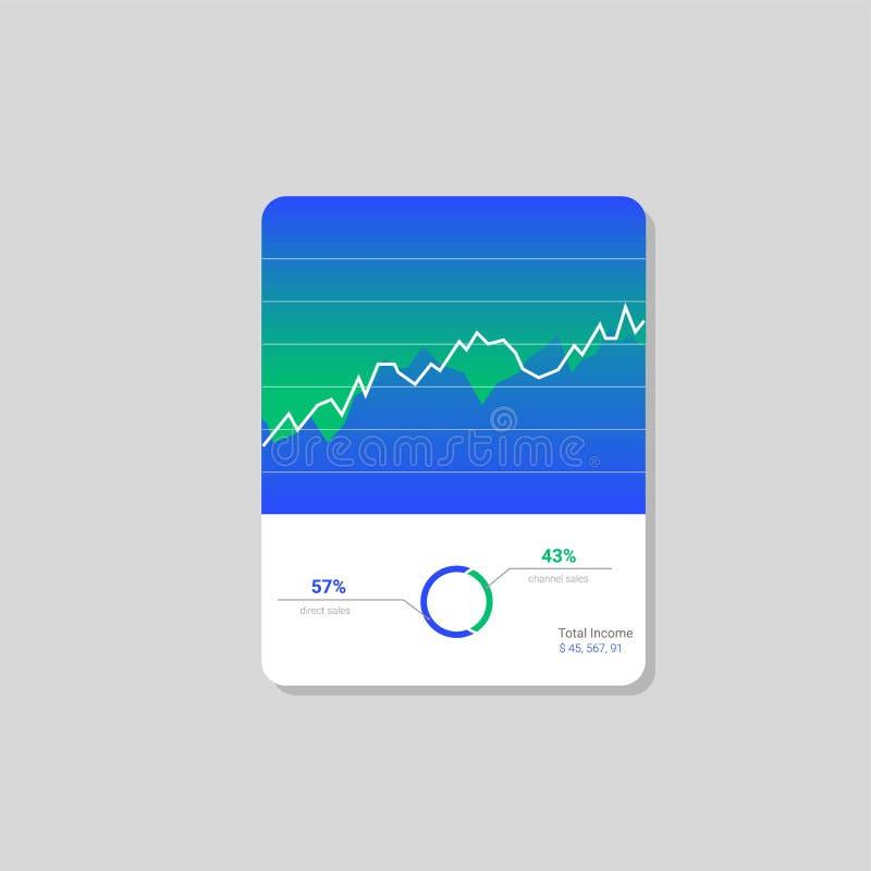 Download Het Malplaatje Van Het Infographicdashboard Met Vlakke Ontwerpgrafieken En Grafieken Verwerkingsanalyse Van Gegevens Vector Illustratie - Illustratie bestaande uit grafiek, cockpit: 107700209